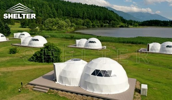 glamping dome - connected dome - luxury glamping dome