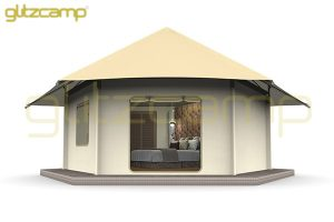 luxury glamping lodge tents - tented hotel - glamping resort for tourist attraction (1)