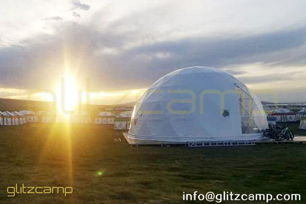 10m geodome tent for camping in tent resort-eco living dome house for grassland camps-glitzcamp