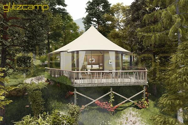 luxury lodge tent price-eco hotel tent for sale-one peak lodges house-eco living tent house-waterproof deluxe glamping tent for resort-Glitzcamp (1)