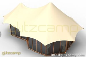 Backyard Safari Tent-Glitzcamp Twopeak Safari Tent -4 people Eco Tent hotel resort tents - spa & resort tents - safari glamping experience (2)