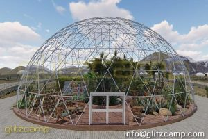 Glitzcamp greenhouse dome - glass greenhouse dome - conservatory garden house - large commercial greenhouse (8)