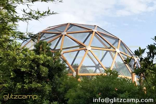 dome house - greenhouse dome-glass dome tent - glamping dome house-project dome-Glitzcamp aluminum galss geodesic tent (5)