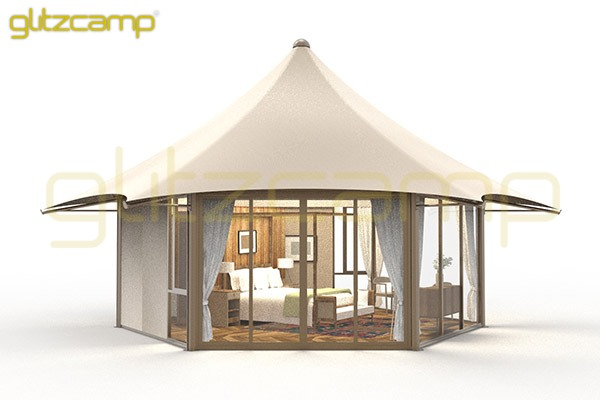 luxury lodge tents for glamping campsite-mono peak lodges with glass walls-unique hotel tent for sale-luxury camping tent lodge for eco resorts-glitzcamp glamping tent (2)