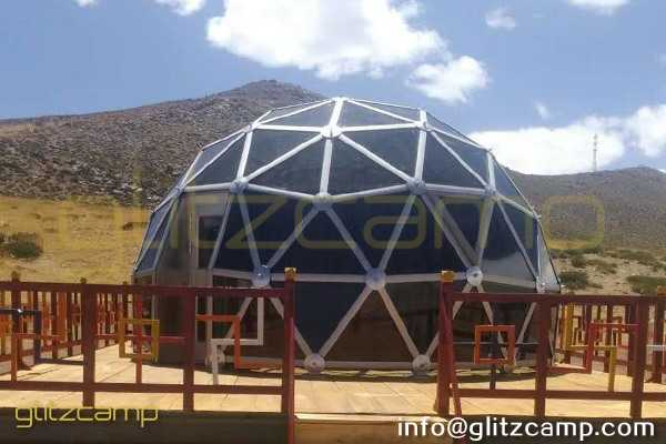 space dome-dia 5m glass dome - prairie blue dome tent - tourism project dome tent - glass dome in tibet- Glizcamp starry glass dome hotel (9)