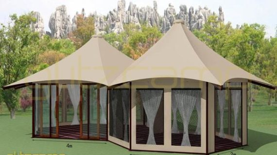 Backyard Safari Tent For Family Parties Camping Glitzcamp