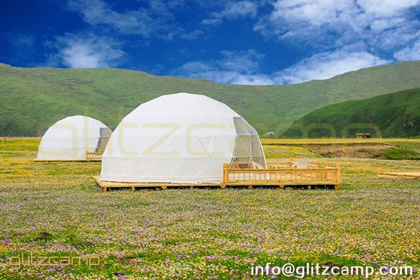 eco living domes for plain camp-glamping dome tents for luxury resorts-6m geodesic dome house for outdoors-glitzcamp (6)