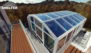 swimming pool enclosure - telescopic sunroom extension - above ground or inground swimming pool enclosures - enclosed porch - glass polycarbonate dome spa enclosure (32)