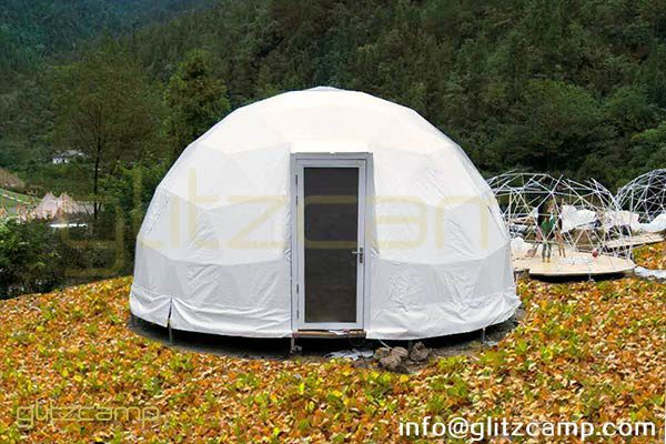 image descriprion & 6m Eco Glamping Domes Tents for Sale - Geodesic Dome Igloo Supplier
