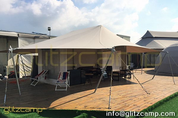 cafe tent - coffee house - rooftop coffee shop tents - glitzcamp safari cafe tents