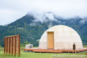glamping resort on mountains-luxury tent hotels in Japan-glamping geodesic dome tent-eco living geodome tents (17)
