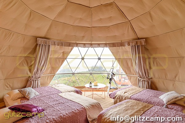 glamping resort on mountains-luxury tent hotels in Japan-glamping geodesic dome tent-eco living geodome tents (18)
