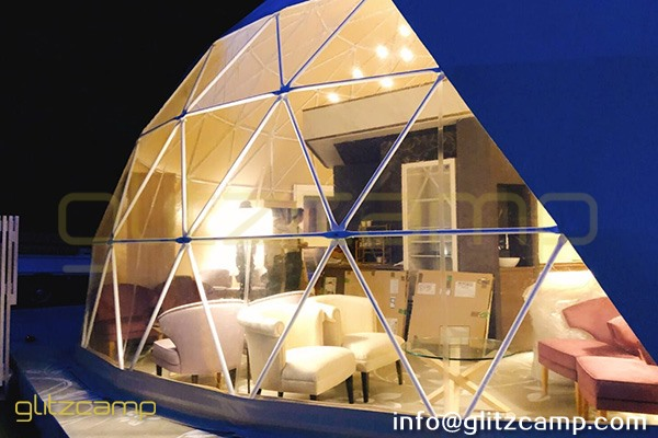 dia.10m glamping dome igloo-eco living domes for sale-geodesic dome house for reception and cafe-glitzcamp(2)