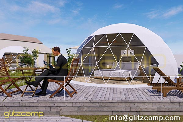 dome igloo for reception and cafe multifunctional glamping dome tents. Black Bedroom Furniture Sets. Home Design Ideas