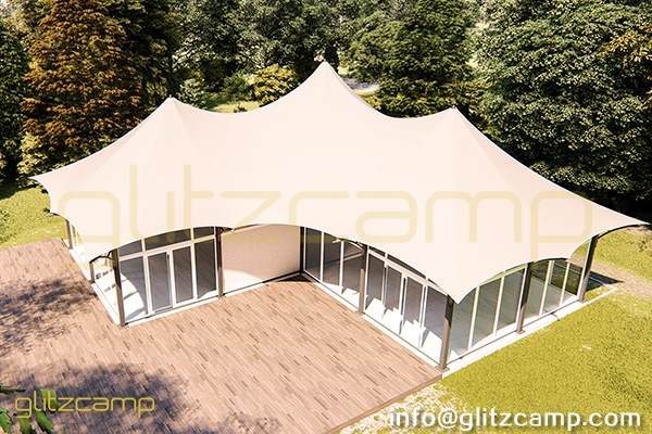 multi peaks lodge tent for sale-luxury lodge glamping in jungle resort-deluxe outdoor accommodation in glamping lodges-glitzcamp (22)