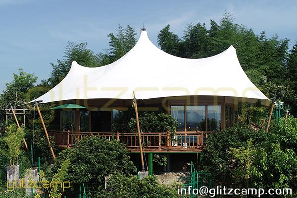 multi peaks lodge tent for sale-luxury lodge glamping in jungle resort-deluxe outdoor accommodation in glamping lodges-glitzcamp (6)