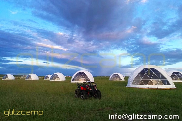 prairies camp in Inner Mongolia-luxury glamping tent resort-geodesic dome tents in grassland-eco living dome house for sale-glitzcamp (4)