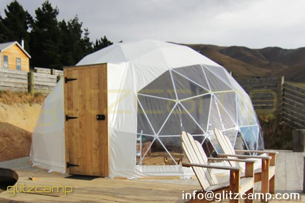 geodesic dome glamping in valley-geodome tent for luxury resorts-eco living domes for valley camp-glamping dome tents sale nz usa uk spain india (2)