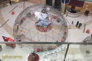 dome tent for festivel events-transparent PVC dome tent for business activities-clear dome for Christmas party-glitzcamp