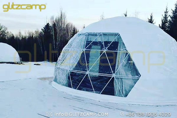 all season dome tents for winter resorts-four season geodesic domes for winter camp-winterproof dome igloos with insulation layer-glitzcamp (4)