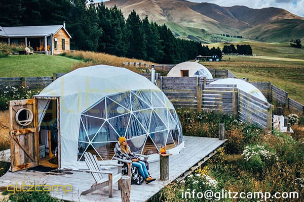geodesic dome glamping in valley camp-geodome tent for luxury resorts-eco living domes for valley resort-glamping dome tents sale nz usa uk spain india (47)