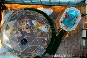 rooftop igloo dome for winter spa lounge-transparent igloo lounge tent for 4 seasons resorts-lounge dome house in rooftop-winterproof dome lounge igloos-glitzcamp (1)