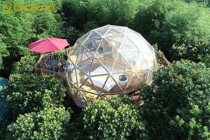 Glass Living Dome-glass dome hotel for jungle park-glass living domes for 2 men lodging-glass clear tent for forest resorts-glamping dome tents for sale-glitzcamp (1)