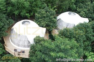 geodesic dome kit for jungle resort-luxury dome hotels for jungle campsite-eco living domes for glamping resorts-glitzcamp (1)