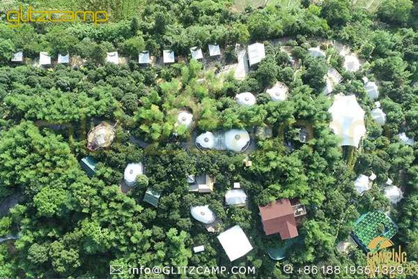 multi types of glamping tents for jungle resort-luxury tents for glamping campsite-deluxe tent hotels for eco resort solutions-glitzcamp