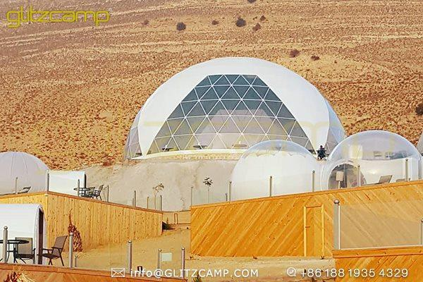 catering dome tent for desert campsite-dining dome igloo for outdoor restaurant-catering tent for glamping resorts-geodesic banquet tent with large capacity-big geodome tents for event tent (1)