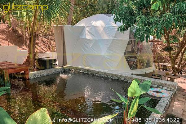igloo dome tent for for tropical resorts-geodesic dome shelters for homestays rental business-luxury dome house for backyard lounge-glitzcamp (2)