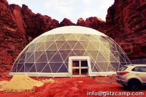 25m catering dome in desert camp-dining dome tent for eco resorts-geodesic dome igloo for banquet tent-large event tent with geodome structure-glitzcamp (1)