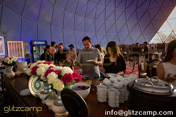 25m catering dome in desert camp-dining dome tent for eco resorts-geodesic dome igloo for banquet tent-large event tent with geodome structure-glitzcamp (3)
