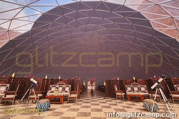 25m catering dome in desert camp-dining dome tent for eco resorts-geodesic dome igloo for banquet tent-large event tent with geodome structure-glitzcamp (4)