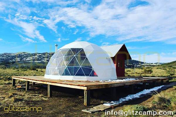 geodesic dome shelter for vacation home rental business-glamping dome tents for winter glamping vacations-all seasons dome house in cold areas-glitzcamp (1)