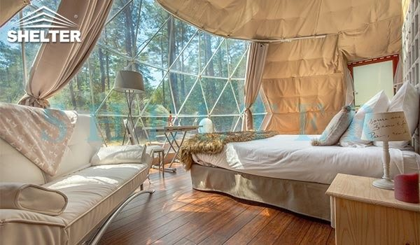 glamping dome house for eco resorts-geodesic dome hotel for forest eco retreat-luxury dome tent for 3 people living-geo dome kit for sale-glitzcamp (4)