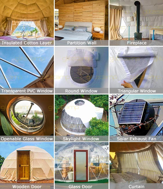 glitzcamp eco living dome accessories