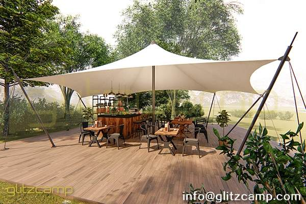 Effect Picture of Reception Lodge Tent