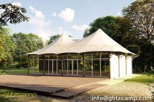 twin peak banquet tent lodge-outdoor event tent for dining tent canopy-large catering lodge tents for sale-luxury tent structure for public space design-glitzcamp glamping tent (1)