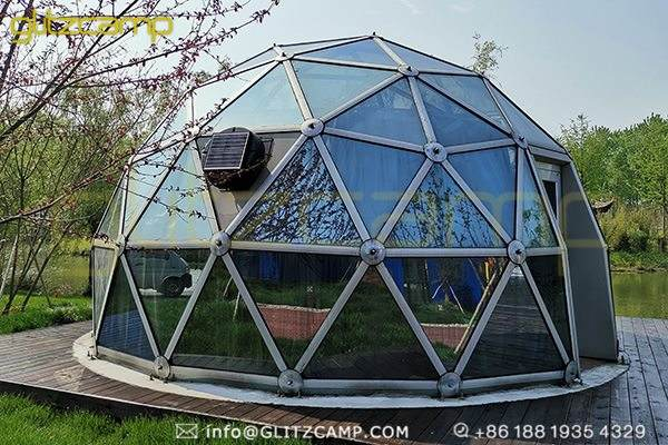glass geodesic dome for glamping resorts-garden igloo domes for 2 person tent-glass greenhouse dome for sale-glitzcamp (4)