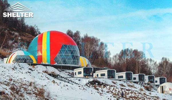 connectable event domes for ski resort-all seasons dome marquee for dining tent-projection dome tents for outdoor cinema-connecting geodesic dome tent design-geo dome event tent for sale-glitzcamp (1)