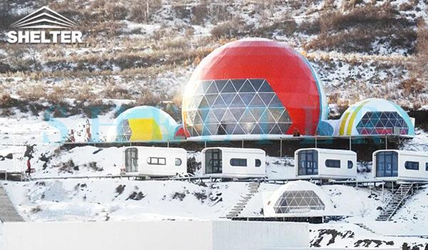 connectable event domes for ski resort-all seasons dome marquee for dining tent-projection dome tents for outdoor cinema-connecting geodesic dome tent design-geo dome event tent for sale-glitzcamp (3)