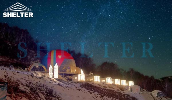 connectable event domes for ski resort-all seasons dome marquee for dining tent-projection dome tents for outdoor cinema-connecting geodesic dome tent design-geo dome event tent for sale-glitzcamp (4)