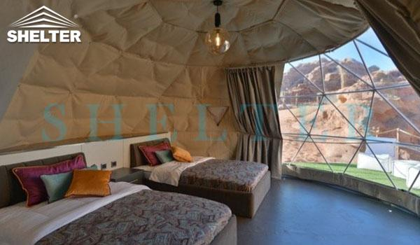 glamping igloo tent for desert resort-geodesic dome tent hotel for luxury camping-eco living domes for sale-geodome tent kit for desert campsite-glitzcamp (3)