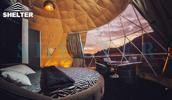 glamping igloo tent for desert resort-geodesic dome tent hotel for luxury camping-eco living domes for sale-geodome tent kit for desert campsite-glitzcamp (4)