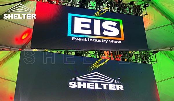 shelter tent structures at event industry show-EIS 2020 (2)