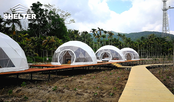 6m dome for glamping - eco tent - glamping tent supplier