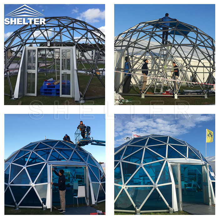 glass dome - dome tent - glamping dome