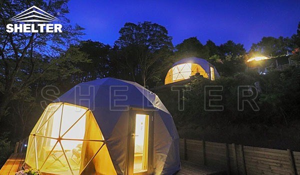mountain dome tent - 6m glamping dome - eco tent