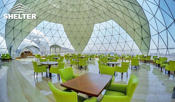 restaurant dome - large dome - connected dome
